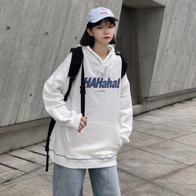 【トップス】アルファベット切り替えファッションフード付きパーカー42910752