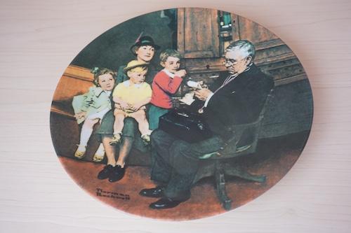 ノーマンロックウェル 絵皿(114-24)