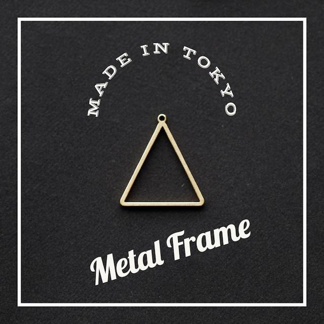 【2個】レジンフレーム 三角形(日本製、真鍮、生地)