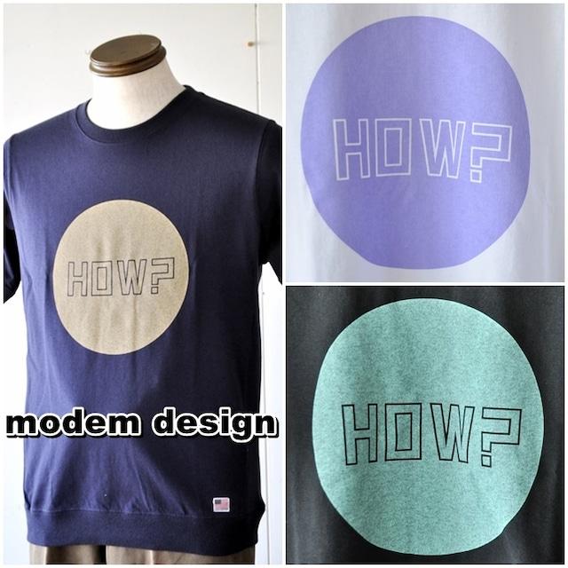 MODEMDESIGN モデムデザイン 半袖スウェットタイプTシャツ 半袖Tシャツ カットソー M1909065