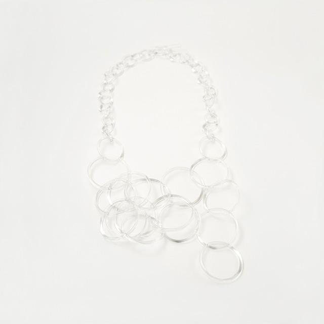 _cthruit シースルーイット ripple necklace ネックレス 【Clear】