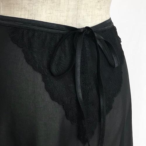"""☆""""Corinne"""" Ballet Wrap Skirt - Noir [Sheer](ノワール [シアー])"""