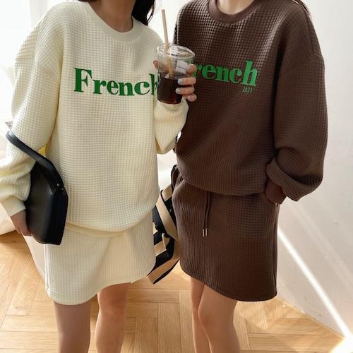 【送料無料】French logoスカート 全2色・U3747