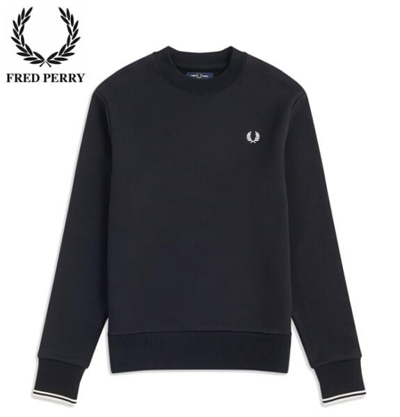 フレッドペリー スウェット トレーナー メンズ FRED PERRY CREW NECK SWEATSHIRT M7535 BLACK