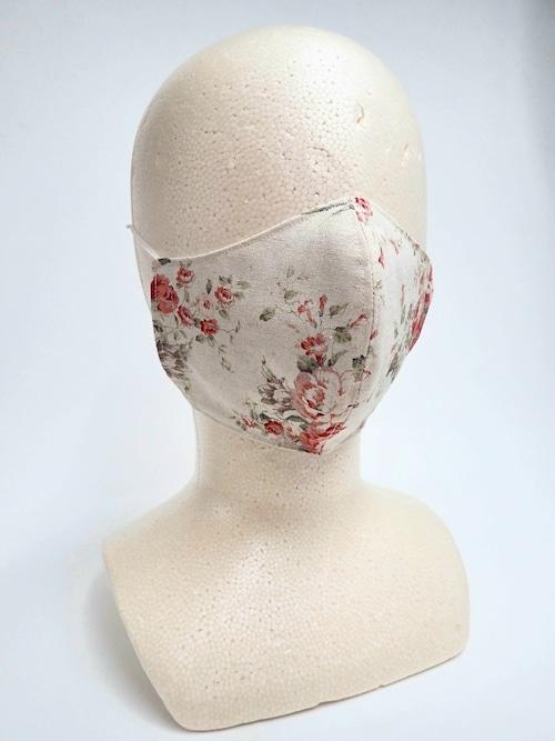 冷感 夏用 クラシカル立体布マスク ベージュ