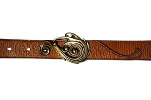 Frog Hand Leather Belt