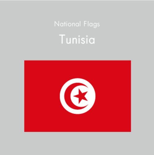 国旗ステッカー チェニジア