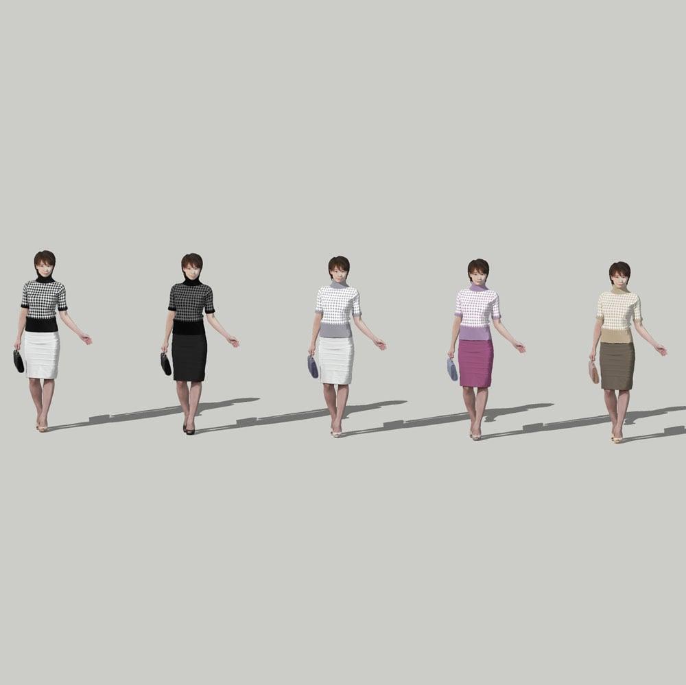 SketchUp素材 3D人物モデル ( Posed ) 025_Haru - 画像2