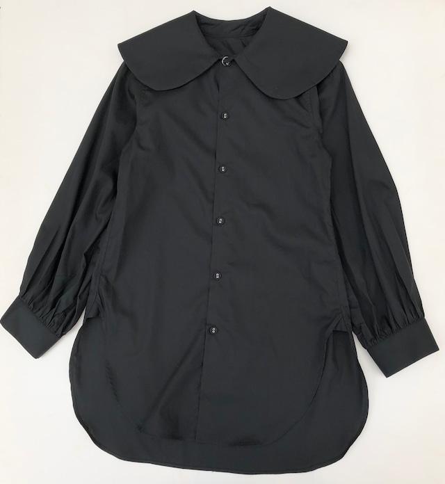 【21AW】GRIS ( グリ )Puritan Collar Shirt[XL]Black シャツ