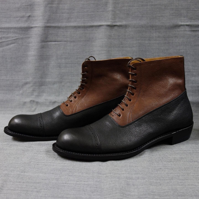 classique boots shrink kipleather / combi(brown x black)
