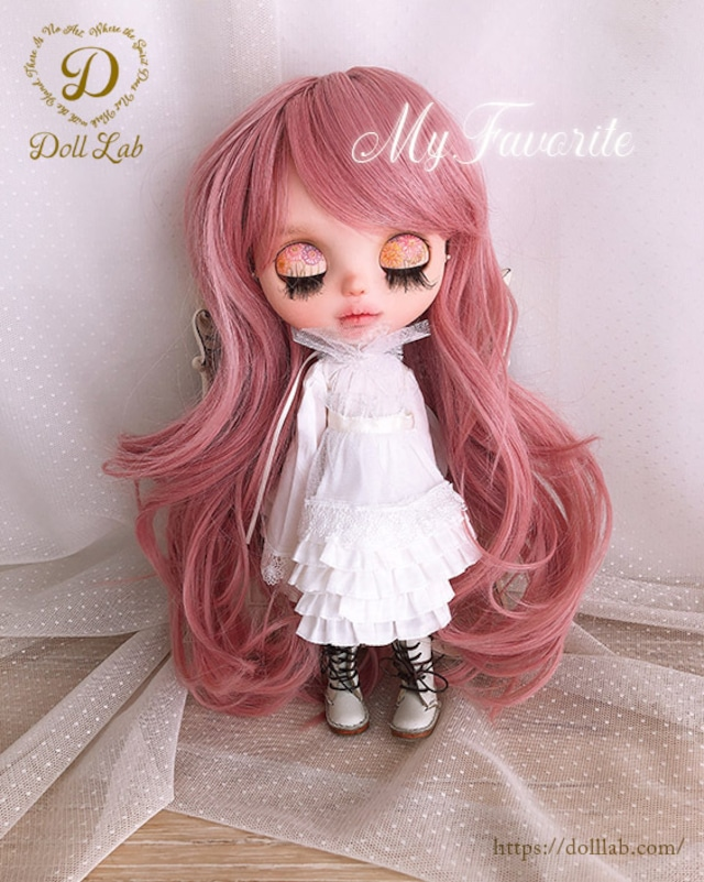 プリンセスシフォン[12inch 髪ありブライス ]ピーチミルク  DWL009-A126-12in