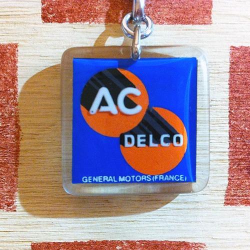 アメリカ AC DELCO[ACデルコ]自動車部品メーカー フランス広告ブルボンキーホルダー