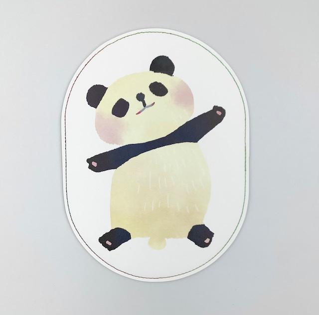 イクタケマコト おなかさすさすマウスパッド(パンダ)
