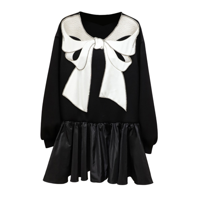 ビッグリボン フリル ドレス【R1233】