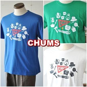 CHUMS  チャムス  camp gear  キャンプギアTシャツ  CH01-1690  半袖Tシャツ メンズ