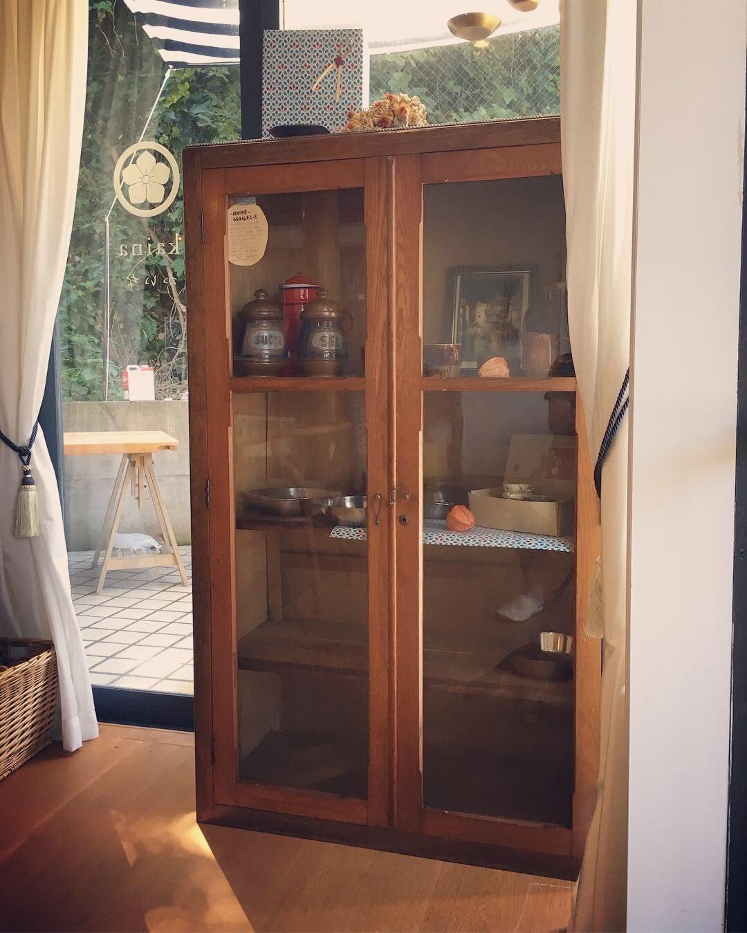 アンティーク本棚 書棚 食器棚