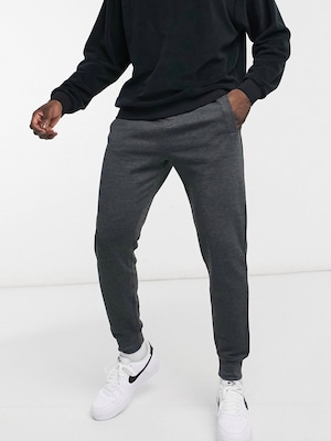 jogger fit pants / chacol gray