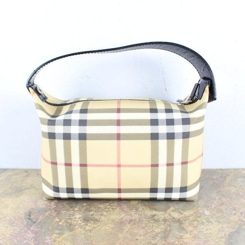 .BURBERRY LONDON CHECK PATTERNED BANITY BAG MADE IN ITALY/バーバリーチェック柄バニティバッグ2000000049953