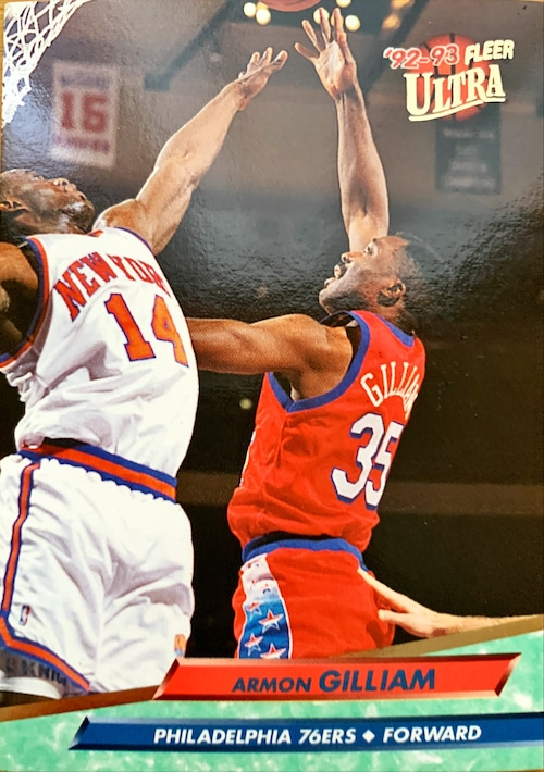 NBAカード 92-93FLEER Armon Gilliam #138 76ERS
