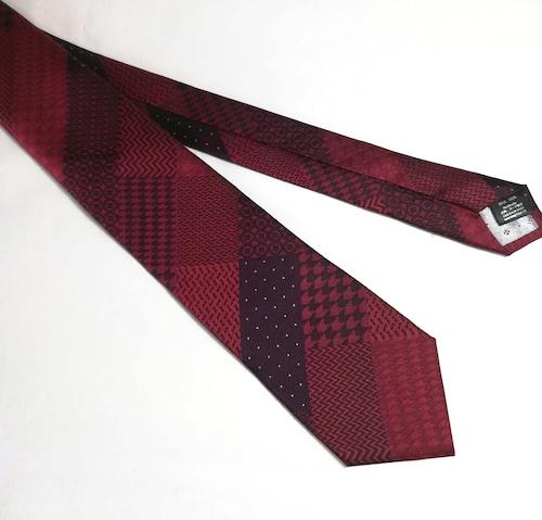 Red-Geometric Patchwork 幾何学模様のパッチワーク-0025