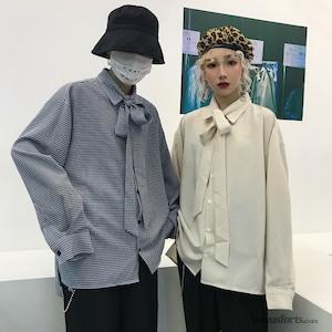 【トップス】チェック柄長袖カジュアルシャツ43009323