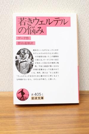 『若きウェルテルの悩み』ゲーテ著 竹山道雄訳 (文庫本)