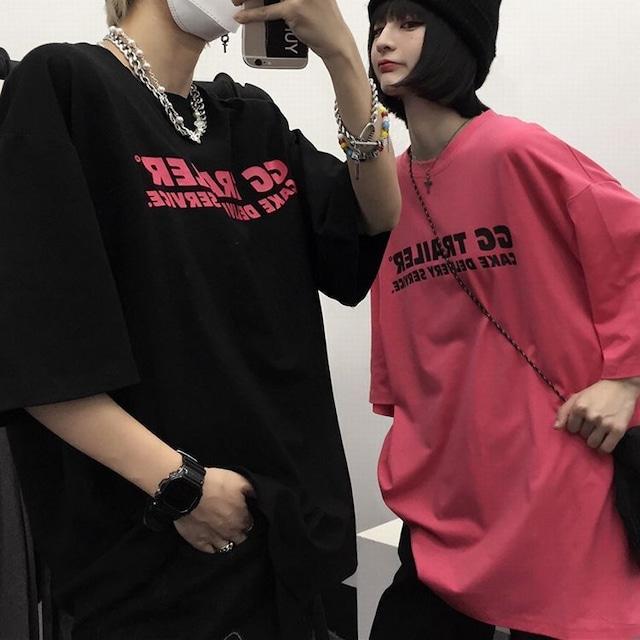 ユニセックス Tシャツ 英字プリント オーバーサイズ メンズ レディース トップス ゆったり 大きめ カジュアル ストリートファッション TBN-643766994604