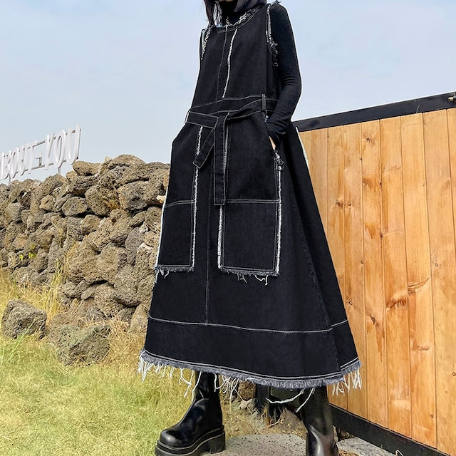 デニムジャンパースカート   1-268