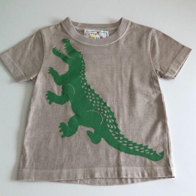 受注制作 kidsTシャツ「大きなワニ」100cm~140対応
