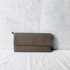 Leather Long wallet : gray