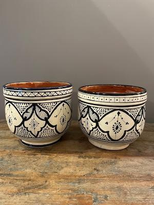 北アフリカサフィ陶製植木鉢 ぷっくり Lサイズ