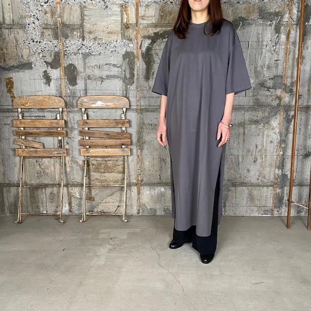 HYKE【ハイク】 SHORT -SLV DRESS BIG-FIT (12293/GRAY).