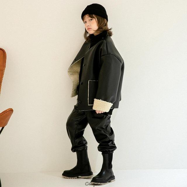 «ジュニア・ママサイズ»«先行予約割引»送料無料«Z'an Clover» fake leather jacket フェイクレザージャケット