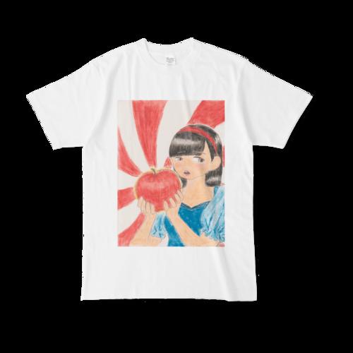 【税込・送料無料】大嵜翔子デザインTシャツ 「赤い林檎と白雪姫」