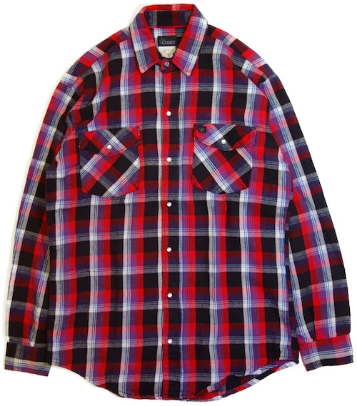 80年代 CODET スナップ ネルシャツ 【M】   アメリカ ヴィンテージ 古着