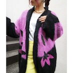 Euro cherry blossoms knit gown