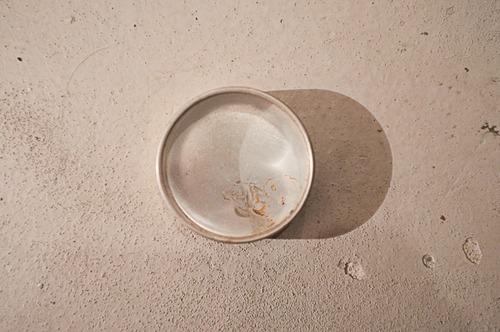 古い時計屋さんで使われていたガラス蓋のアルミケース大(No.31184)