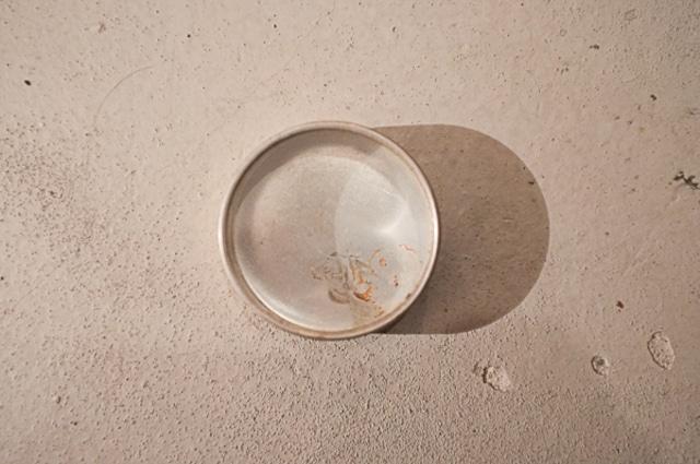 古い時計屋さんで使われていたガラス蓋のアルミケース小(No.31184)