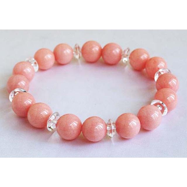 【繁栄・平和・幸運】愛と美を育むピンク翡翠・ブレスレット