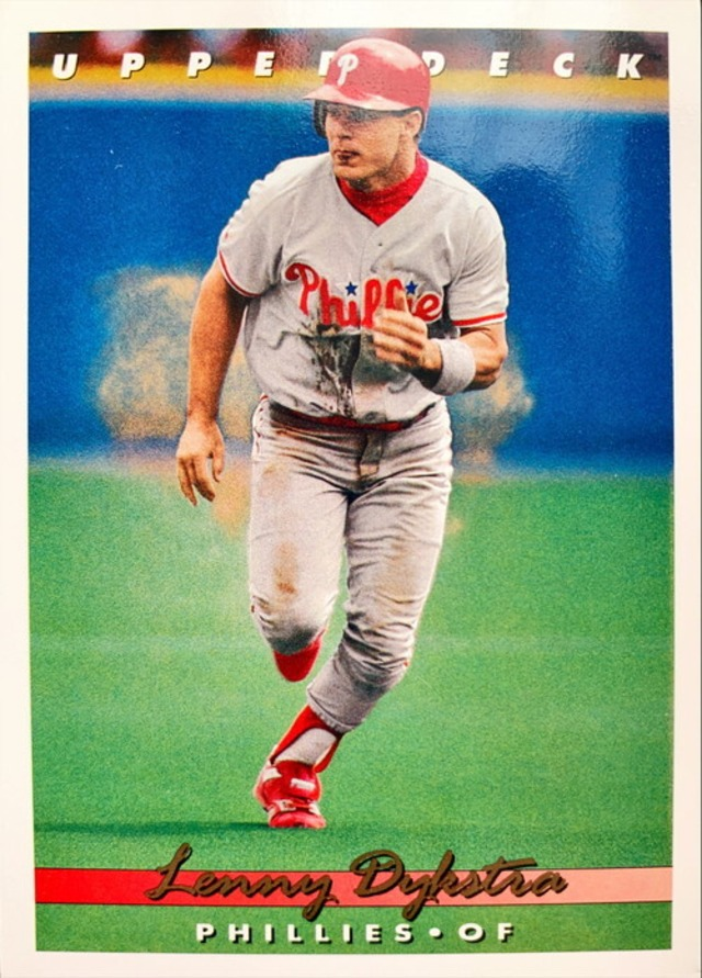 MLBカード 93UPPERDECK Lenny Dykstra #069 PHILLIES