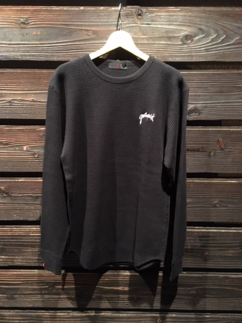 Gentemstick  HAND LOGO Thermal L/S Shirt  Black Lサイズ