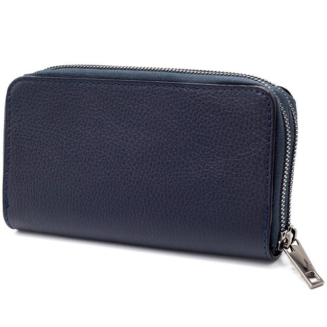 イタリア製 本革 長財布 財布 ネイビー