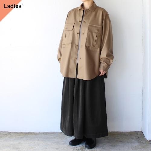 HAVERSACK  圧縮ウールミリタリーシャツジャケット(Caramel)