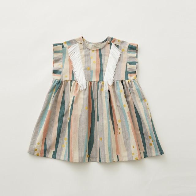 eLfinFolk  Crambon stripe dress (pale pink) 110 120 130  elf-212F03
