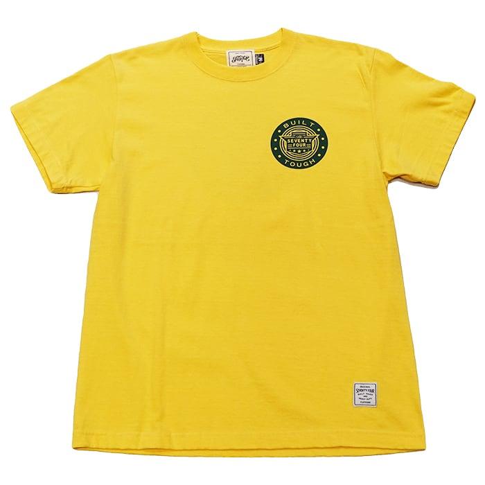SEVENTY FOUR(セブンティーフォー) / B.T.CLASSIC LOGO T-SHIRT(YELLOW)(STF21SS13)(Tシャツ)