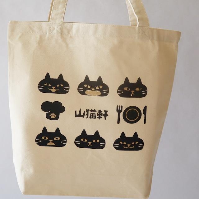 山猫トートバッグ(白・黒)