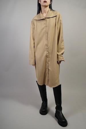 FRONT BUTTON 2WAY NECK DRESS (BEIGE) 2109-93-67