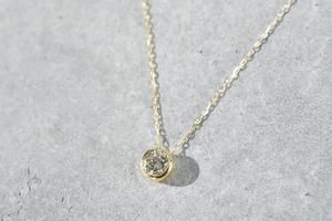 One Diamond Necklace / 0.2ct / K18YG
