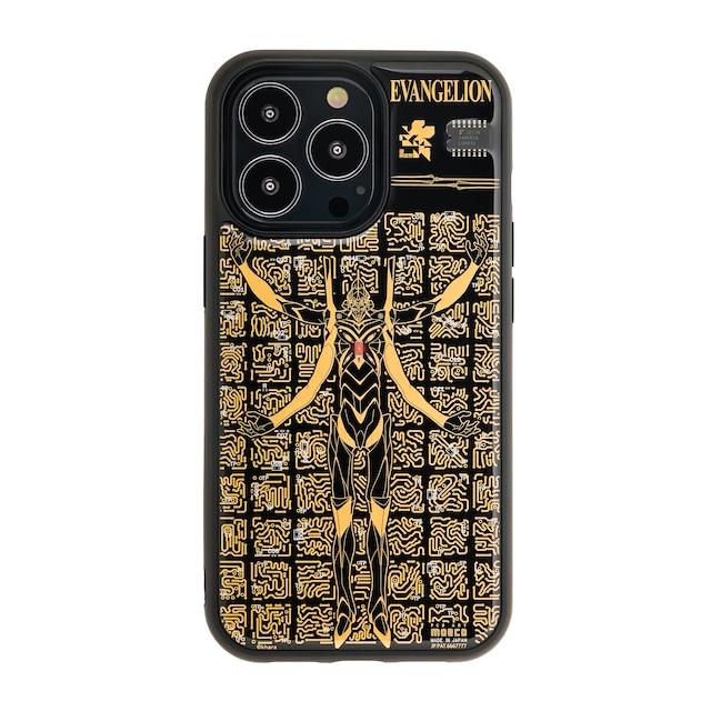 FLASH EVA13 基板アート iPhone 13 Proケース 黒【東京回路線図A5クリアファイルをプレゼント】