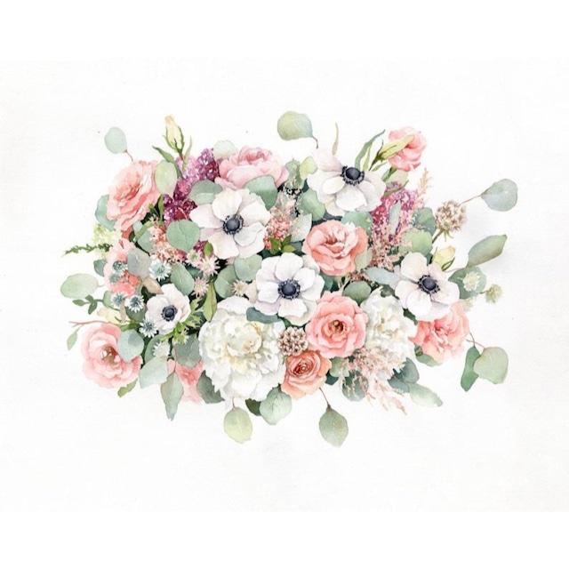 Custom Wedding Bouquet Painting【Lサイズ】